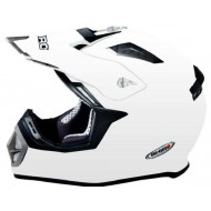 (OFFER) HELMET SHIRO MONOCOLOR SH-912 WHITE - MX-911 SIZE L