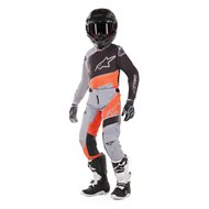OFFER YOUTH COMBO ALPINESTARS RACER BRAAP 2019 ANTHRACITE / ORANGE FLUO - SIZE 28 USA / XL INF