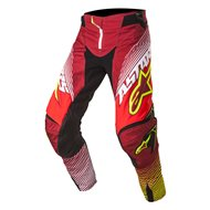 SALE PANT ALPINESTARS 2017 TECHSTAR FACTORY RED / WHITE / YELLOW FLUO