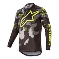 YOUTH ALPINESTARS RACER TACTICAL JERSEY 2020 BLACK/GREY CAMO/YELLOW FLUO