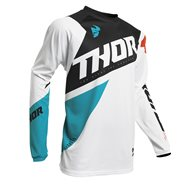 THOR PULSE PINNER JERSEY 2020 BLACK / ACID COLOUR