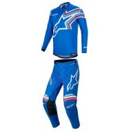 OUTLET COMBO ALPINESTARS RACER BRAAP 2020 COLOR AZUL / BLANCO