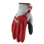 THOR SPECTRUM GLOVES 2021 RED / GREY COLOUR