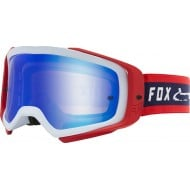 OFFER FOX AIRSPACE II SIMP GOGGLE 2020 NAVY / RED COLOUR - MIRROR SPARK LENS