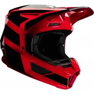 OFFER FOX YOUTH V2 HAYL HELMET 2020 FLAME RED COLOUR