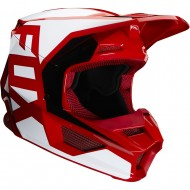 OFFER FOX YOUTH V1 PRIX HELMET 2020 FLAME RED COLOUR