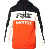 SUDADERA FOX CHARGER COLOR NEGRO / NARANJA