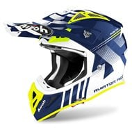 AIROH AVIATOR ACE NEMESI HELMET 2020 BLUE GLOSS COLOUR