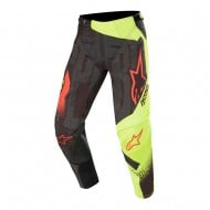 OFFER ALPINESTARS TECHSTAR FACTORY PANT 2020 BLACK / YELLOW FLUO / RED FLUO COLOUR