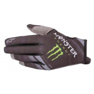 ALPINESTARS MONSTER AMMO GLOVES 2021 BLACK / BRIGHT GREEN COLOUR