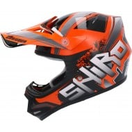 CASCO SHIRO MX-306 BRIGADE KID II NARANJA FLUOR