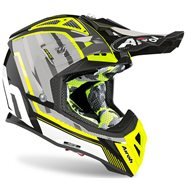 CASCO AIROH AVIATOR 2.3 AMS2 GLOW 2020 COLOR CROMO AMARILLO