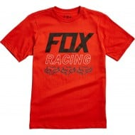 OFFER FOX YOUTH OVERDRIVE SHORT SLEEVE TEE ATOMIC ORANGE COLOUR