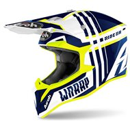 CASCO AIROH WRAAP BROKEN 2020 COLOR AZUL BRILLO