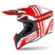 CASCO AIROH WRAAP BROKEN 2020 COLOR ROJO BRILLO