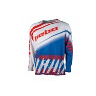 CAMISETA HEBO END-CROSS STRATOS COLOR BLANCO