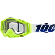 GAFAS 100% RACECRAFT GP21 AMARILLO FLUOR LENTE TRANSPARENTE