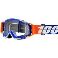 100% GOGGLE RACECRAFT ROXBURRY BLUE/ORANGE CLEAR LENS