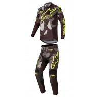 COMBO YOUTH ALPINESTARS RACER TACTICAL 2020 BLACK/CAMO GREY/YELLOW FLUO COLOUR