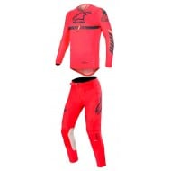 OFFER COMBO ALPINESTARS SUPERTECH 2020 RED BRIGHT / NAVY / OFF WHITE COLOUR