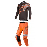 OFFER COMBO ALPINESTARS RACER BRAAP 2020 DARK GREY / ORANGE FLUO COLOUR