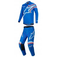 OFFER COMBO YOUTH ALPINESTARS RACER BRAAP 2020 BLUE / OFF WHITE COLOUR