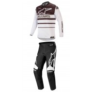 COMBO ALPINESTARS RACER SUPERMATIC 2020 COLOR NEGRO / BLANCO