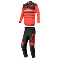 OFFER COMBO ALPINESTARS RACER SUPERMATIC 2020 BLACK / BRIGHT RED