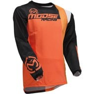 CAMISETA MOOSE 2020 COLOR NARANJA / NEGRO