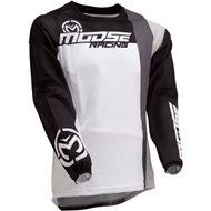 CAMISETA MOOSE SAHARA 2020 COLOR BLANCO / NEGRO