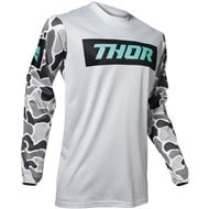 THOR PULSE AIR FIRE JERSEY 2020 LIGHT GREY / BLACK COLOUR