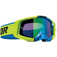 THOR SNIPER PRO DIVIDE GOGGLES 2020 LIME / BLUE COLOUR - BLUE LENS