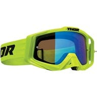 THOR SNIPER PRO SOLID GOGGLES 2020 ACID FLUO COLOUR - BLUE LENS