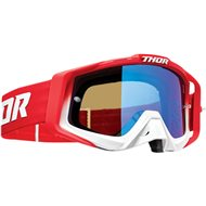THOR SNIPER PRO FADER GOGGLES 2020 RED COLOUR - BLUE LENS