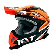 OUTLET CASCO OFF ROAD KYT STRIKE EAGLE SIMPSON REPLICA COLOR NARANJA FLUOR