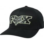 FOX ELLIPSOID FLEXFIT HAT BLACK / GREEN COLOUR