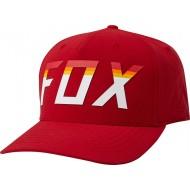 FOX ON DECK FLEXFIT HAT CHILI COLOUR