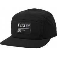 GORRA FOX NON STOP 5 PANEL COLOR NEGRO / BLANCO
