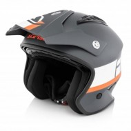 OFFER ACERBIS JET ARIA HELMET COLOR GREY/WHITE