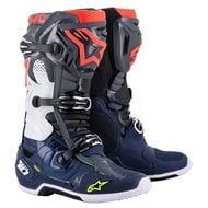 ALPINESTARS TECH 10 BOOTS 2021 DARK GREY / DARK BLUE / FLUO RED COLOUR