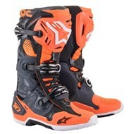 ALPINESTARS TECH 10 BOOTS 2021 COOL GREY / FLUO ORANGE COLOUR
