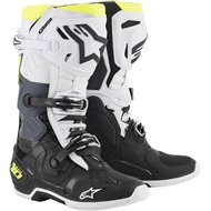 ALPINESTARS TECH 10 BOOTS 2021 BLACK / WHITE / FLUO YELLOW COLOUR