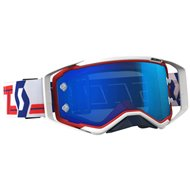 OFFER SCOTT PROSPECT GOGGLE COLOR RED / WHITE - ELECTRIC BLUE CHROME WORKS LENS