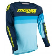 MOOSE SAHARA JERSEY 2021 NAVY / BLUE / HI-VIZ COLOUR