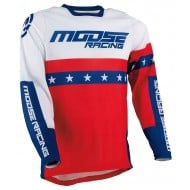 MOOSE SAHARA JERSEY 2021 RED / WHITE / BLUE COLOUR