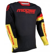 MOOSE SAHARA JERSEY 2021 BLACK / YELLOW / RED COLOUR