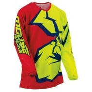 YOUTH MOOSE AGROID JERSEY 2021 RED / YELLOW / BLUE COLOUR