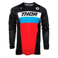 THOR PULSE RACER JERSEY 2021 BLACK / RED / BLUE COLOUR