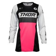 CAMISETA MUJER THOR PULSE RACER 2021 COLOR NEGRO / ROSA