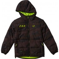 OFFER FOX YOUTH WASCO PUFFY JACKET BLACK CAMO COLOUR